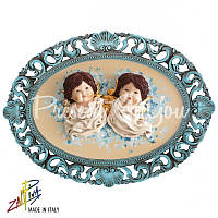Картина коллекционная фарфоровая  Италия «Два ангела» Zampiva, 57х78 см.