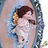 Картина коллекционная фарфоровая  Италия «Амур» Zampiva, 78х57 см., фото 2