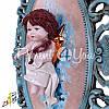 Картина коллекционная фарфоровая  Италия «Амур» Zampiva, 78х57 см., фото 3
