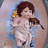 Картина коллекционная фарфоровая  Италия «Амур» Zampiva, 78х57 см., фото 4