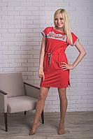 Платье  спортивное  короткое красное, фото 1