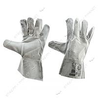 Перчатки для сварки (краги) серые короткие