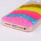 Чехол накладка силикон для iPhone 5/5S Glitter Bling Stars Blue , фото 4