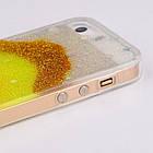 Чехол накладка силикон для iPhone 5/5S Glitter Bling Stars Blue , фото 3