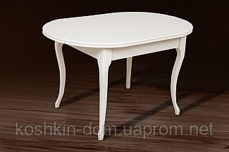 Стол обеденный Твист Ультра раскладной массив клена 126(+34)*81 см