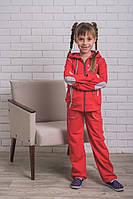 Костюм спортивный  для девочек  красный