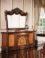 Буфет с зеркалом в классическом стиле Олимпия