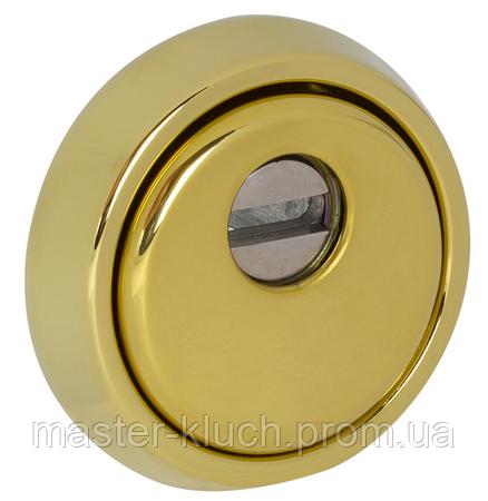 Броненакладка протектор DISEC MONOLITO MILANO KRIPTON BKS260 DIN_ROUND латунь полированная