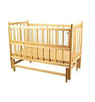 Кроватка детская с откидным бортиком