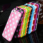 Чехол-накладка Polka Dot Silicon Soft TPU Cover Cases Red для iPhone 6/6s, Винница, фото 4