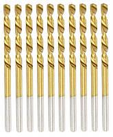Сверло по металлу Бригадир Standart HSS титановое 6 мм (20-489) (10 шт./уп.)