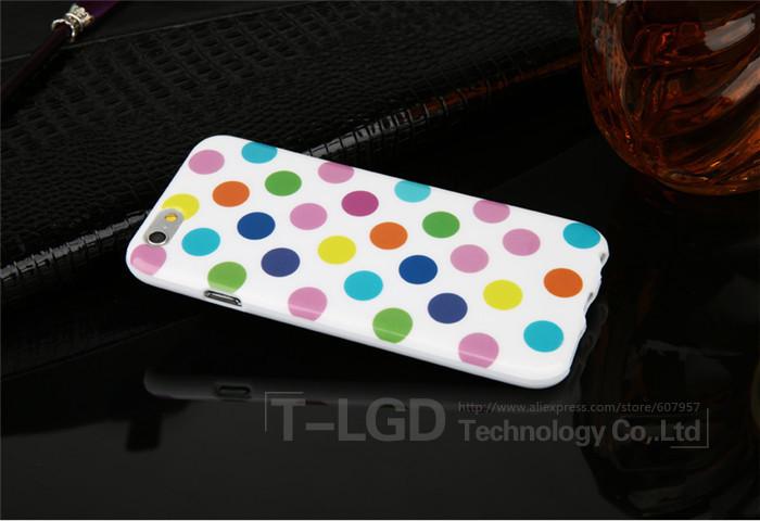 Чехол-накладка Polka Dot Silicon Soft TPU Cover Cases Multicolour для iPhone 6/6s, Винница