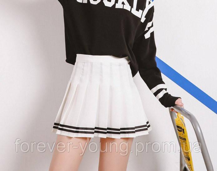 6505f260ce5 Теннисная юбка белая с черными полосками