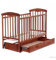 Кроватка детская с маятником и шухлядой