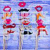 Набор для фотосессии Губы и усы, 17 шт