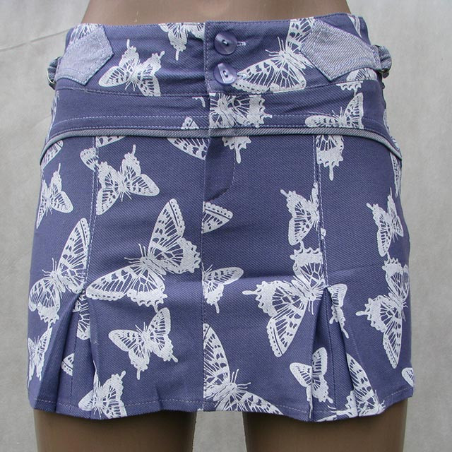 Юбка подростковая Бабочка фиолетовая S-XL