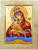 Схема для вышивки бисером POINT ART Божья матерь Почаевская, размер 20х26 см