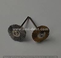 Щетка-крацовка металлическая Латунь