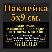 Наклейка 5х9 см.