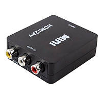 Конвертер HDMI в RCA Composite video (HDMI2AV) с поддержкой FullHD