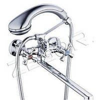 GLAUF QML-A827 (143S) Смес ванна изогн. гусак 370мм, 2х поз переключ