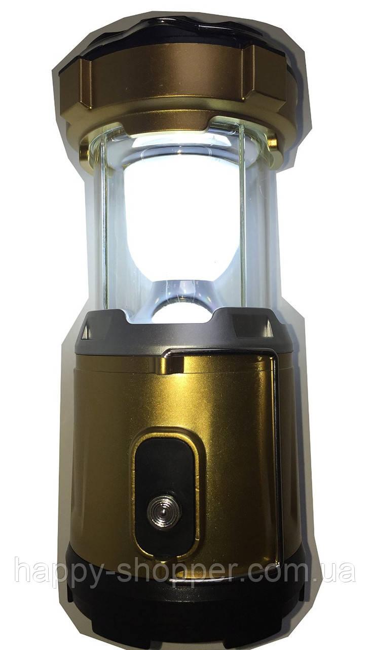 Фонарь туристический OPENMARTS Solar/AC/USB/Battery Rechargeable 6 Led Camping Lantern Flashlight (Coffee)