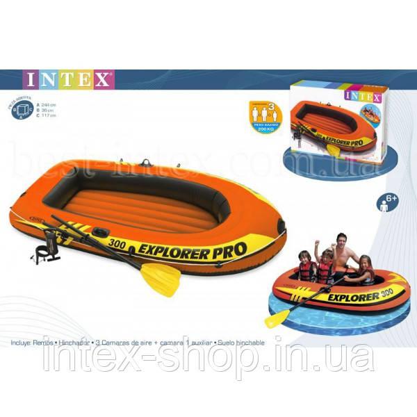 Надувная лодка Explorer 300 PRO Set Intex 58358 (244X117X36CM)