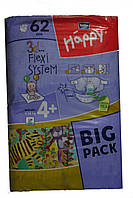 Подгузники Happy 4+ ( 9-20 кг) 62 шт