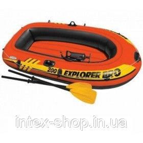 Надувная лодка Explorer 200 PRO Set Intex 58357 (196х102х33 см)