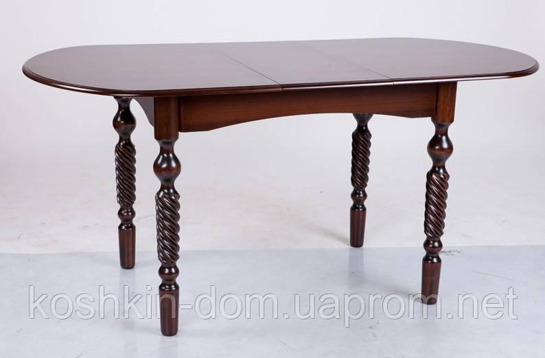 Стол обеденный Бруно Ультра раскладной массив клена 130(+34)*80 см