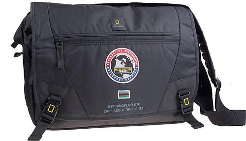 Вместительная сумка с карманом для ноутбука NATIONAL GEOGRAPHIC 01106;06, черная, 12 л.