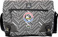 Роскошная сумка с карманом для ноутбука NATIONAL GEOGRAPHIC N01106;74, черно-белая, 12 л.