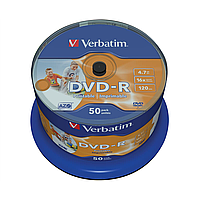 Verbatim dvd-r 4,7gb 16x cake 50 pcs printable 43649 (43649)