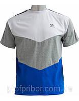 Мужская футболка Adidas из хлопка, магазин одежды украина, мужские футболки недорого V-1_404