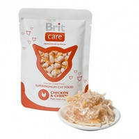 Консервы для кошек Brit Care Cat Курица и сыр в соусе 80 гр.