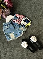 Модні джинсові шорти для дівчинки