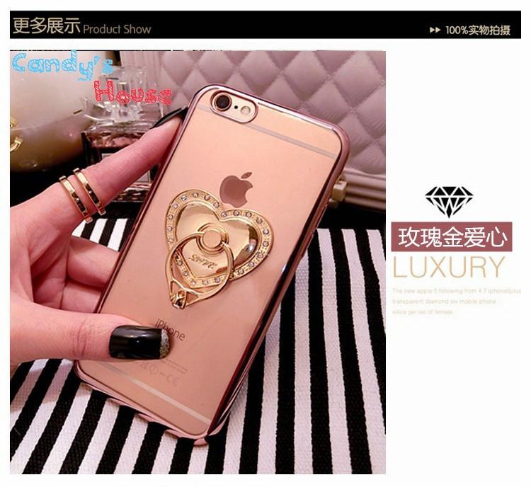 Чехол-накладка Hard PC Bling Diamond Ring Rose Gold Luxury Case для iPhone 6/6s, Винница