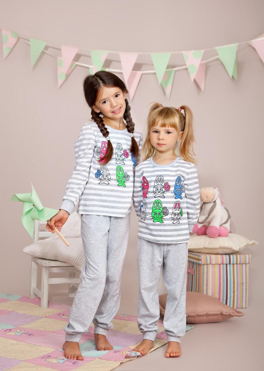 Пижама для девочки р.104-116, 100% хлопок, ELLEN