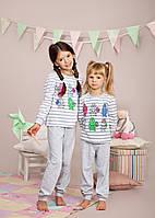 Пижама для девочки р.122-140, 100% хлопок, ELLEN