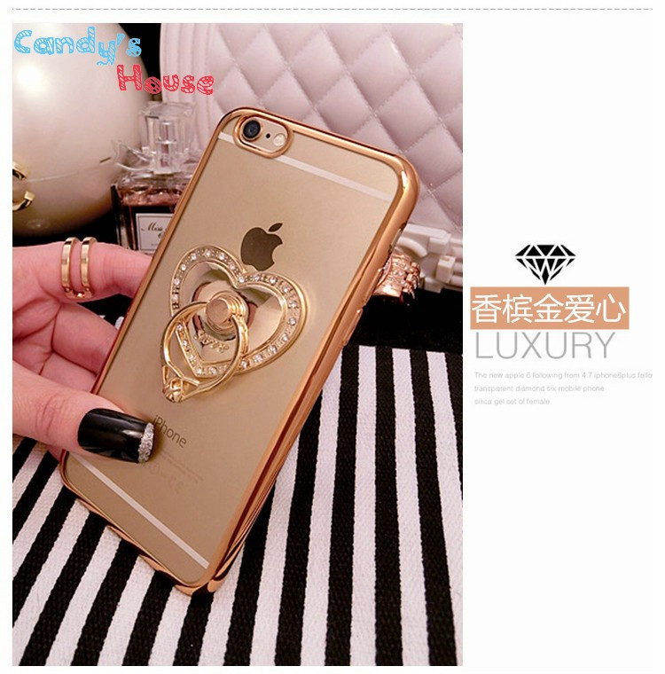 Чехол-накладка Hard PC Bling Diamond Ring Gold Luxury Case для iphone 6 plus плюс