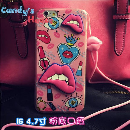 Чехол-накладка Luxury Fashion Three-dimentional Sexy Lips Case для iphone 6 plus плюс