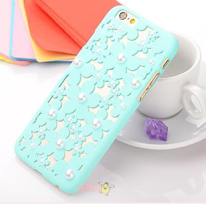 Чехол-накладка 3D Flower Candy Colour Pearl Mint для iphone 6 plus плюс