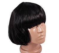Искусственный парик «черное каре»