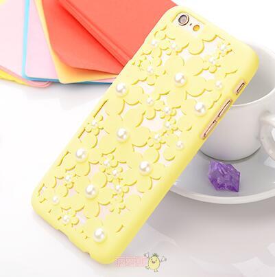 Чехол-накладка 3D Flower Candy Colour Pearl Yellow для iphone 6 plus плюс