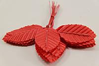 Лист розы декоративный  10шт красный