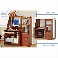 """Небольшой компьютерный стол с полками и ящиками """"СКП_2 №4"""""""