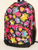 Яркий рюкзак для девочки с ортопедической спинкой 8385