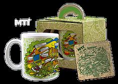 Набор чашка и костер в подарочной упаковке