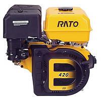 Двигатель 1-цилиндровый, 4-тактный, 90х66 мм, 420 мл, 8,0:1, 8,5 Квт/1800 об/мин, 32,5 кг Rato R420MG.