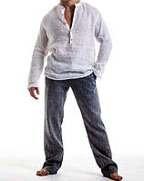 Мужской пляжный костюм из натурального льна. Цвет, размер на выбор до 72р
